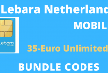 Lebara Netherlands Under 35-Euro Bundle Codes